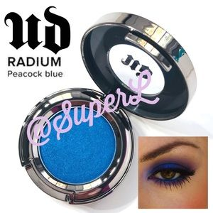 2/$25 Urban Decay Radium Peacock Blue Eyeshadow